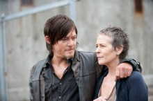 Daryl Dixon (Norman Reedus) and Carol (Melissa Suzanne McBride) - The Walking Dead _ Season 4, Episode 1 - Photo Credit: Gene Page/AMC