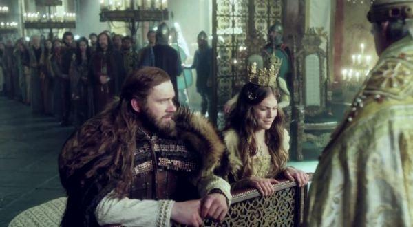 Rollo and Gisla in season 4 of History Channel's Vikings