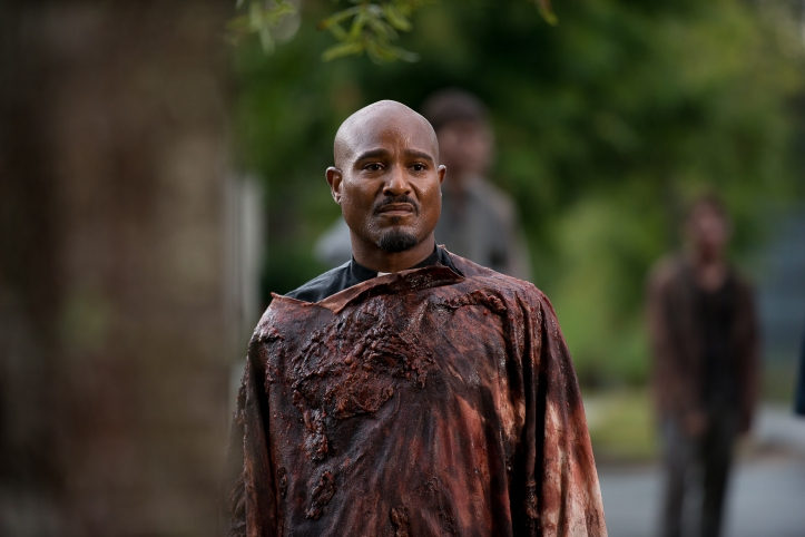 Seth Gilliam as Father Gabriel - The Walking Dead _ Season 6, Episode 9 - Photo Credit: Gene Page/AMC