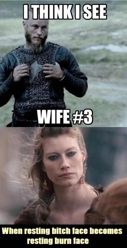 Aslaug resting burn face season 4 vikings