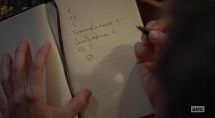 Carol's diary of death in Season 6 Episode 12 of AMC''s The Walking Dead