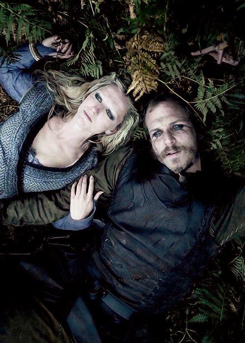 Floki and Helga in happier times in Vikings