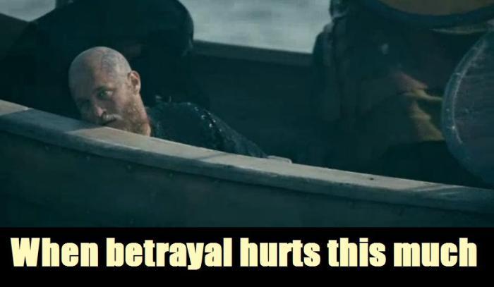 History Channel's Vikings Season 4 Episode 7 Ragnar betrayal meme