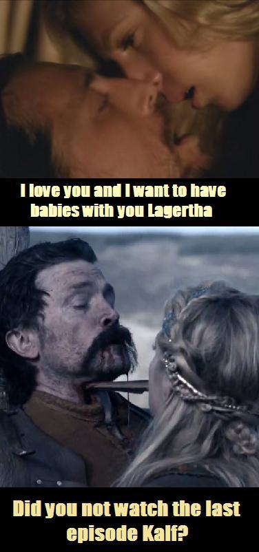 Kalf and Lagertha vikings season 4