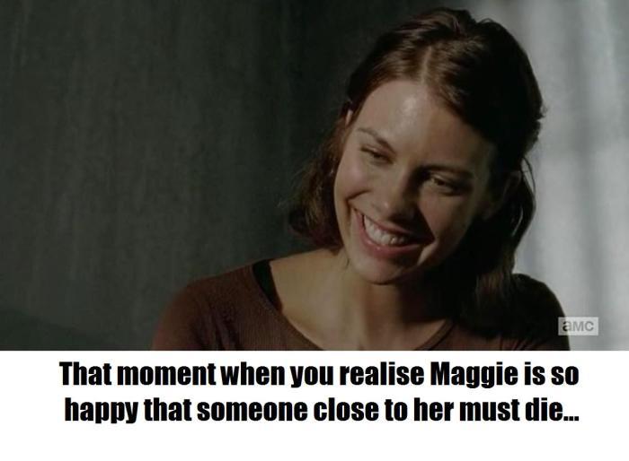 The Walking Dead Maggie is happy meme