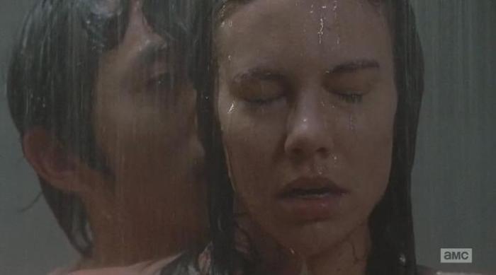 "The Walking Dead Season 6 Episode 15 ""East"" Maggie and Glenn"
