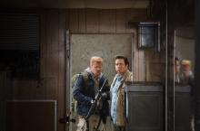 "Abraham (Michael Cudlitz) and Dr. Eugene Porter (Josh McDermitt) star in Episode 14 (""Twice As Far"") of AMC's The Walking Dead"