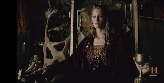 Alyssa Sutherland stars as Aslaug in Episode 10 The Last Ship mid season finale of History Channel's Vikings Season 4