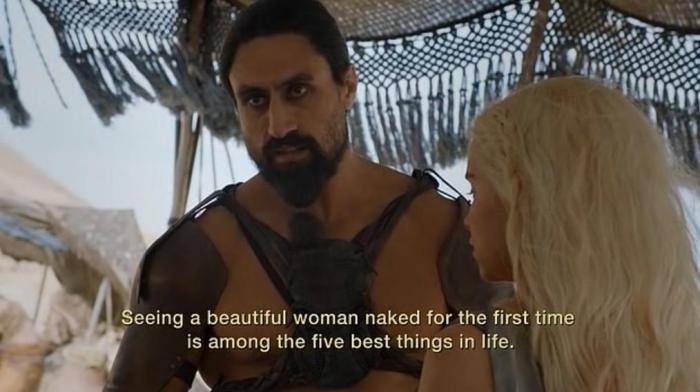 HBO Game of Thrones Season 6 Episode 1 The Red Woman Daenerys and the Dothraki Khal