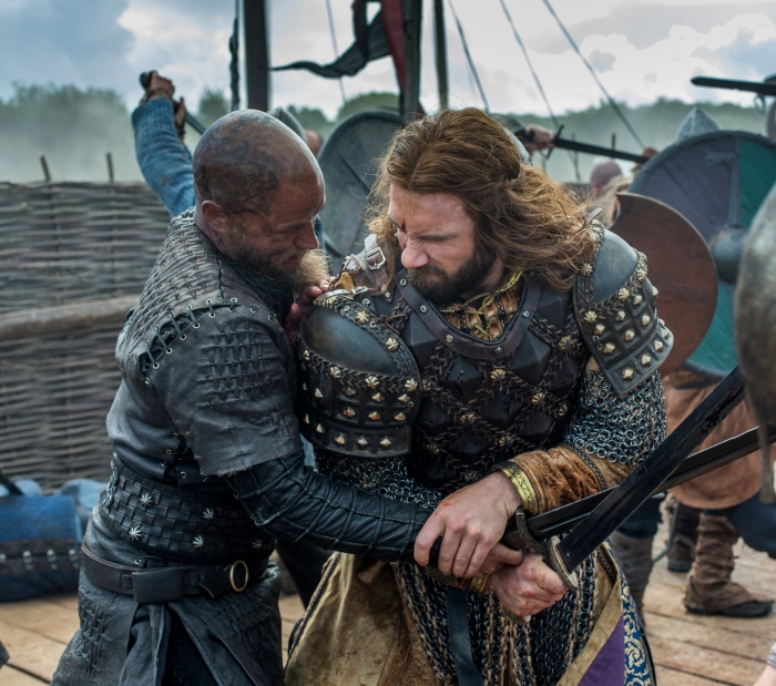 History Channel Vikings Season 4 Episode 10 The Last Ship Ragnar and Rollo fight
