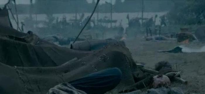 History Channel's Vikings Season 4 Episode 7 severed head at viking camp