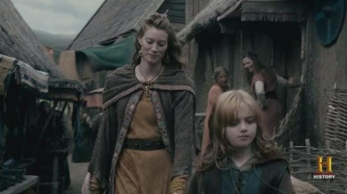 History Channel's Vikings Season 4 Episode 8 Aslaug and her son