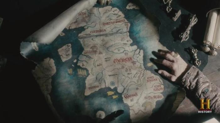 History Channel's Vikings Season 4 Episode 8 Map of England