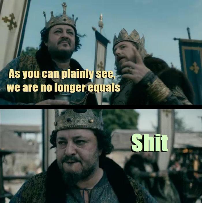 History Channel's Vikings Season 4 Episode 9 King Ecbert and King Aelle meme