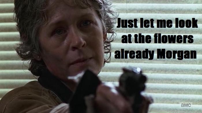 The Walking Dead Season 6 Finale Episode 16 Last Day On Earth Carol just go text