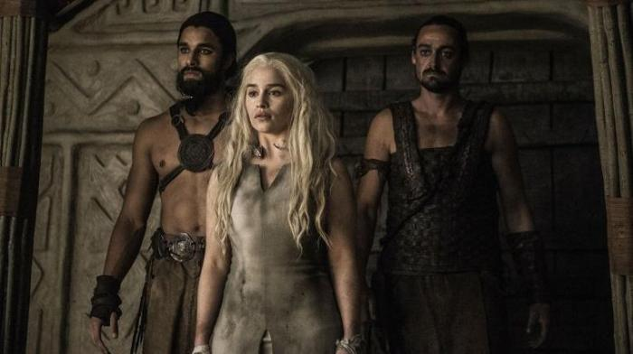 Daenerys gets taken to the Khals in Episode 4 of HBOs Game of Thrones Season 6