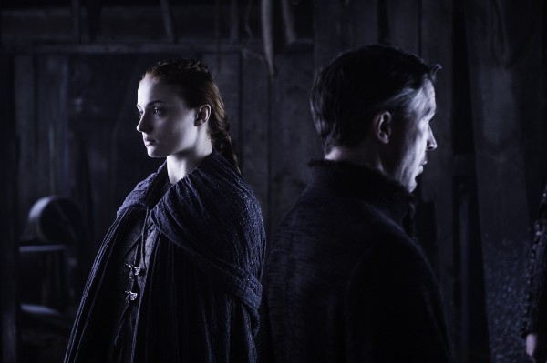 HBO's Game of Thrones Season 6 Episode 5 The Door Sansa Stark and Littlefinger Credit HBO