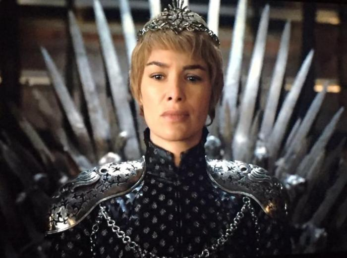 HBO's Game of Thrones Season 6 Episode 10 The Winds of Winter Cersei Lannister sits on the iron throne