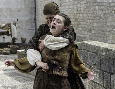 HBO's Game of Thrones Season 6 Episode 7 The Broken Man Arya Stark gets stabbed