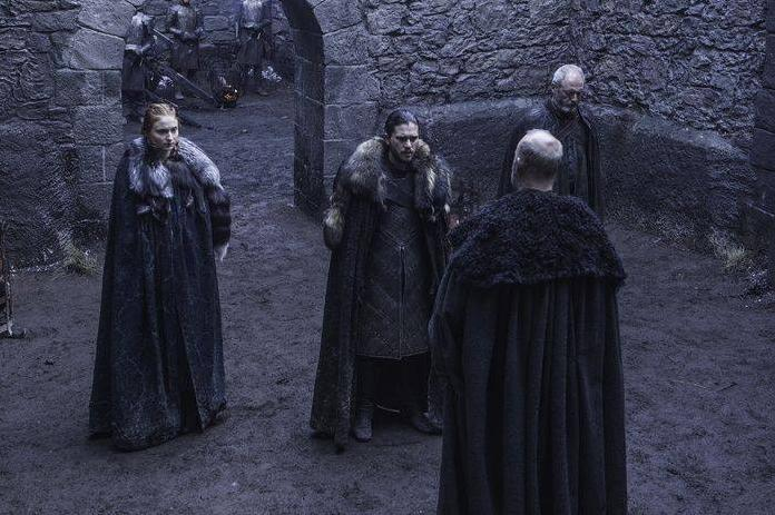 HBO's Game of Thrones Season 6 Episode 7 The Broken Man Sansa Stark and Jon Snow