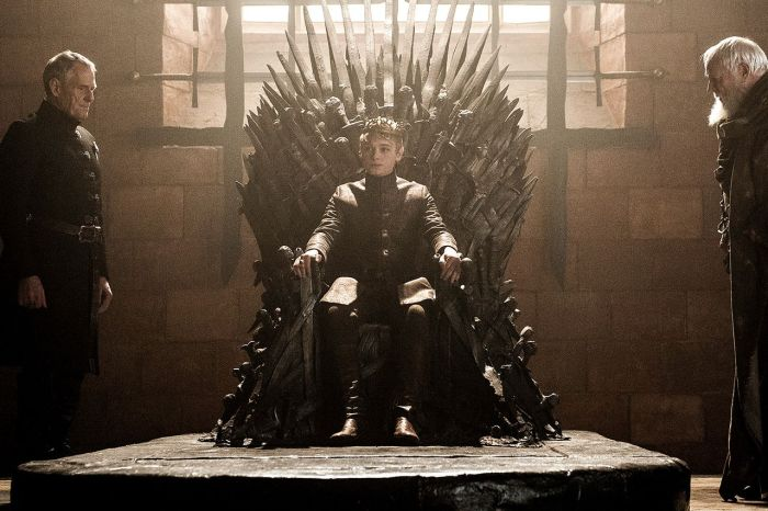 HBO's Game of Thrones Season 6 EPisode 8 No One King Tommen on the iron throne