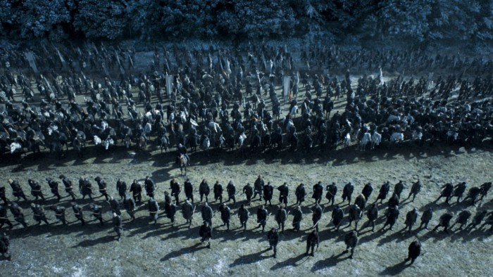 HBO's Game of Thrones Season 6 Episode 9 Battle of the Bastards armies gather