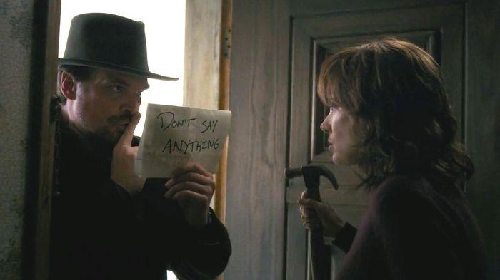 Netflix's Stranger Things Season 1 Episode 5 The Flea and the Acrobat Hopper and Joyce