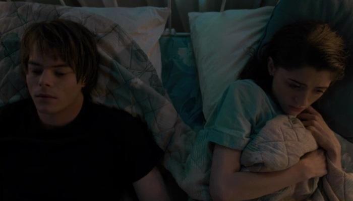 Netflix's Stranger Things Season 1 Episode 6 The Monster Jonathan and Nancy in bed