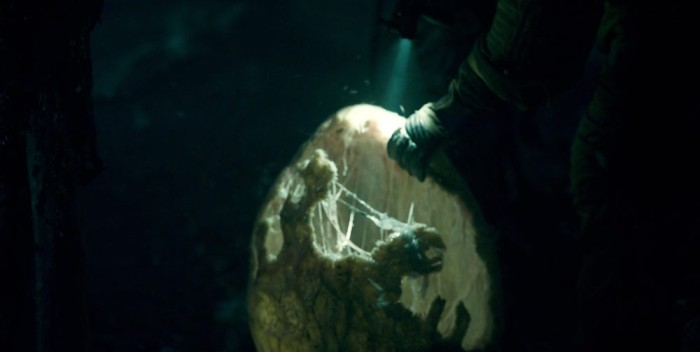 Netflix's Stranger Things Season 1 Episode 8 finale The Upside Down close up of the hatched egg