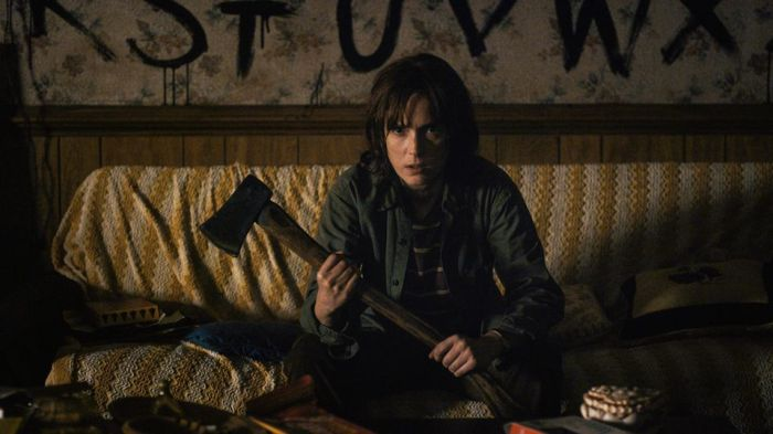 Netflix's Stranger Things Season 4 Episode 4 The Body Joyce with an axe