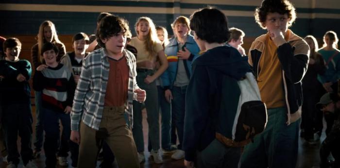 Netflix's Stranger Things Season 4 Episode 4 The Body Troy when he peed himself