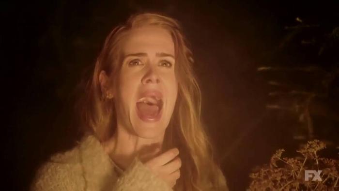 FX's 'American Horror Story Roanoke,' Season 6, Chapter 2 Re-enactment Shelby is scared