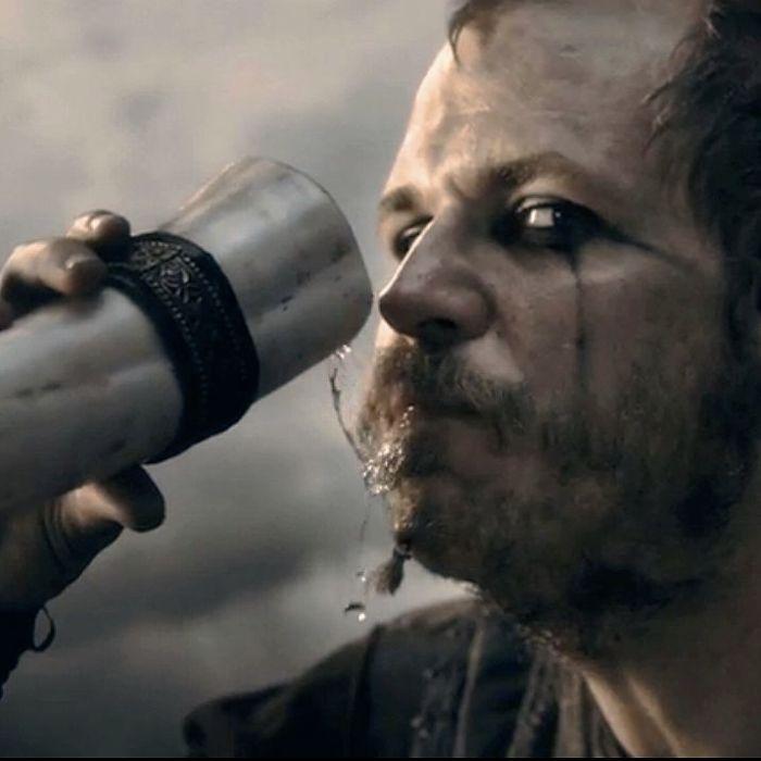 History's 'Vikings,' Floki drinking