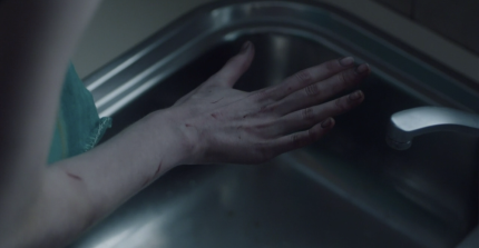 """Showcase's 'The Kettering Incident,' Season 1, Episode 2, """"The Lights."""" Anna's hand"""