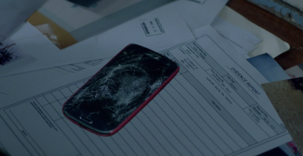 """Showcase's 'The Kettering Incident,' Season 1, Episode 2, """"The Lights."""" Chloe's smashed up phone"""