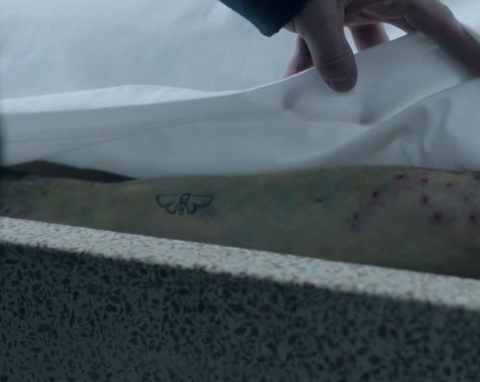 Showcase's 'The Kettering Incident,' Season 1, Episode 4, The Mill. Chloe's arm, morgue shot