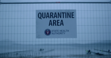 Showcase's The Kettering Incident Season 1 Episode 7 Madness Quarantine area