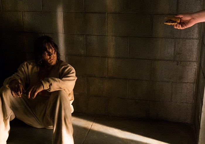 AMC's 'The Walking Dead,' Season 1, Episode 3, Daryl Dixon gets offered a dogfood sandwich