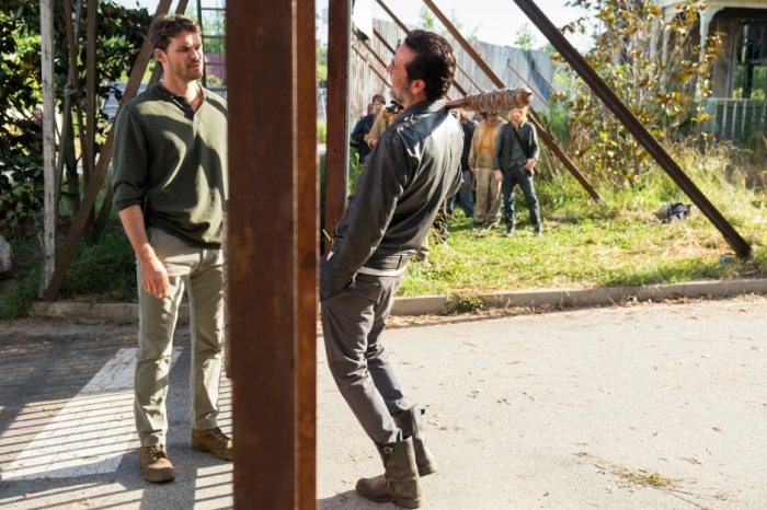 AMC's 'The Walking Dead,' Season 7, Episode 4, Spencer and Negan