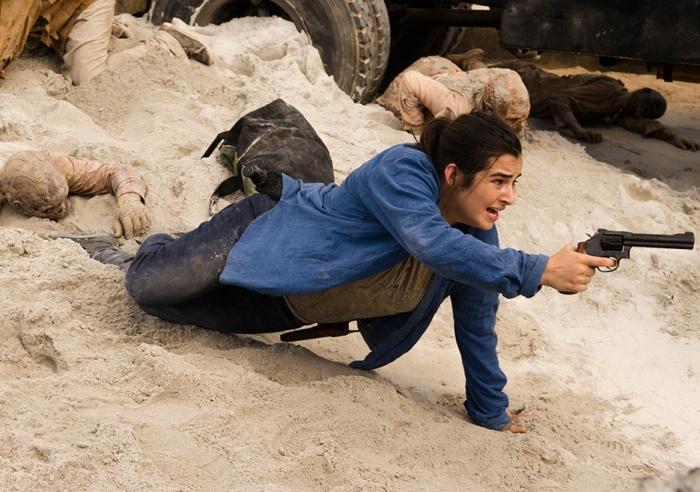 AMC's 'The Walking Dead,' Season 7, Episode 6, Tara stuck in the sand