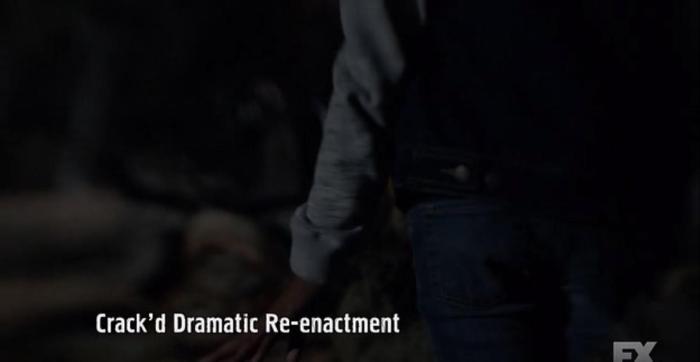 FX's 'American Horror Story Roanoke,' Season 6, Episode 10, finale, Crack'd dramatic re-enactment