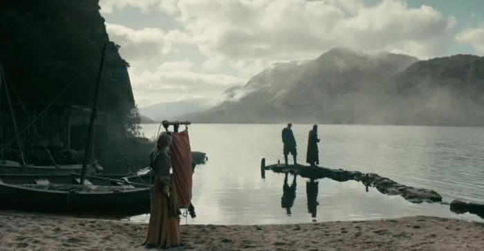 History's 'Viking,' Season 4B, Episode 11, Helga, Floki and Ragnar