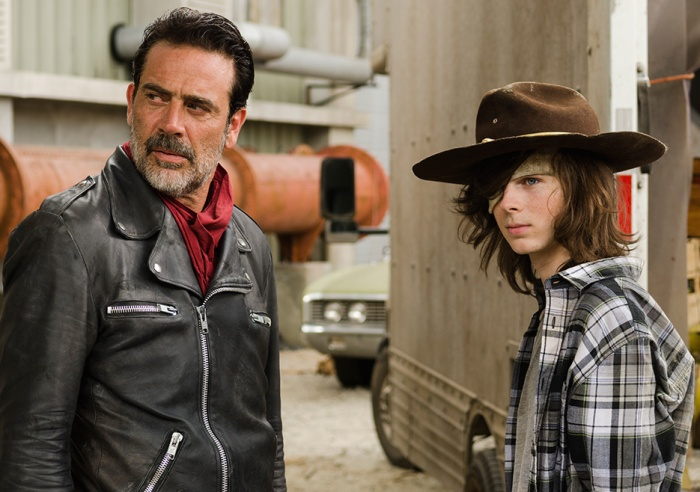 AMC's 'The Walking Dead,' Season 7, Episode 7, Negan and Carl Grimes