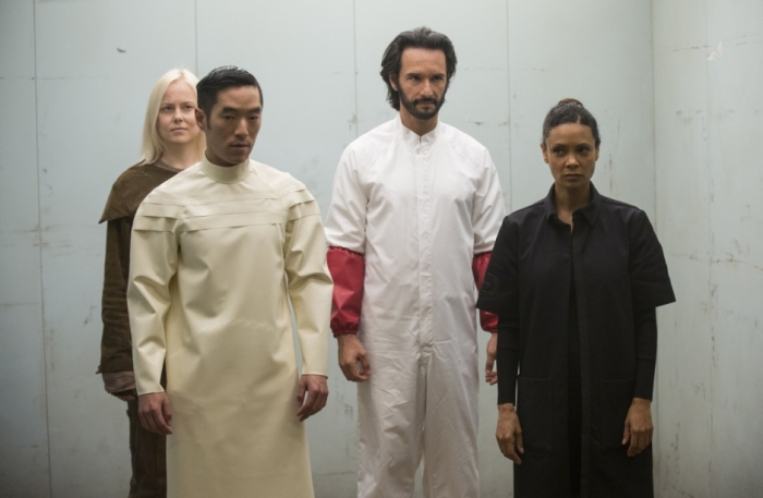 HBO's 'Westworld,' Season 1 finale, Episode 10, Armistice, Felix, Hector and Maeve