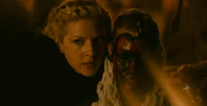 History's 'Viking,' Season 4B, Episode 12, Lagertha threatens Aslaug