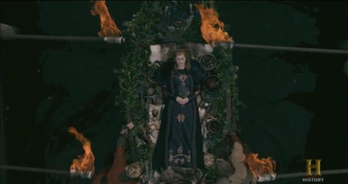 History's 'Vikings,' Season 2, Episode 14, Aslaug's funeral pyre