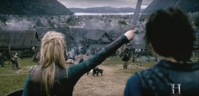 History's 'Vikings,' Season 4 Part 2, Episode 13, Lagertha attacks Kattegat