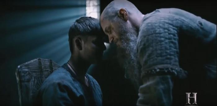 History's 'Vikings,' Season 4 Part 2, Episode 15, Ivar the Boneless and Ragnar Lothbrok