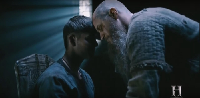 History's 'Vikings,' Season 4 Part 2, Episode 15, Ivar the Boneless and Ragnar Lothbrok