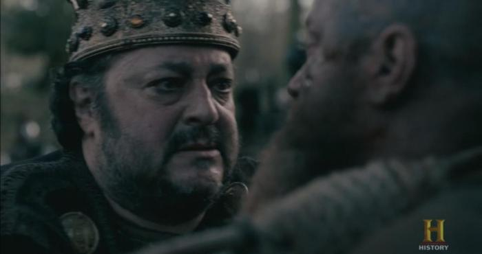 History's 'Vikings,' Season 4, Part 2, Episode 15, King Aelle and Ragnar Lothbrok